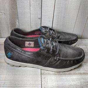 Skechers Women's Boat Shoes Loafers Slip On Gray